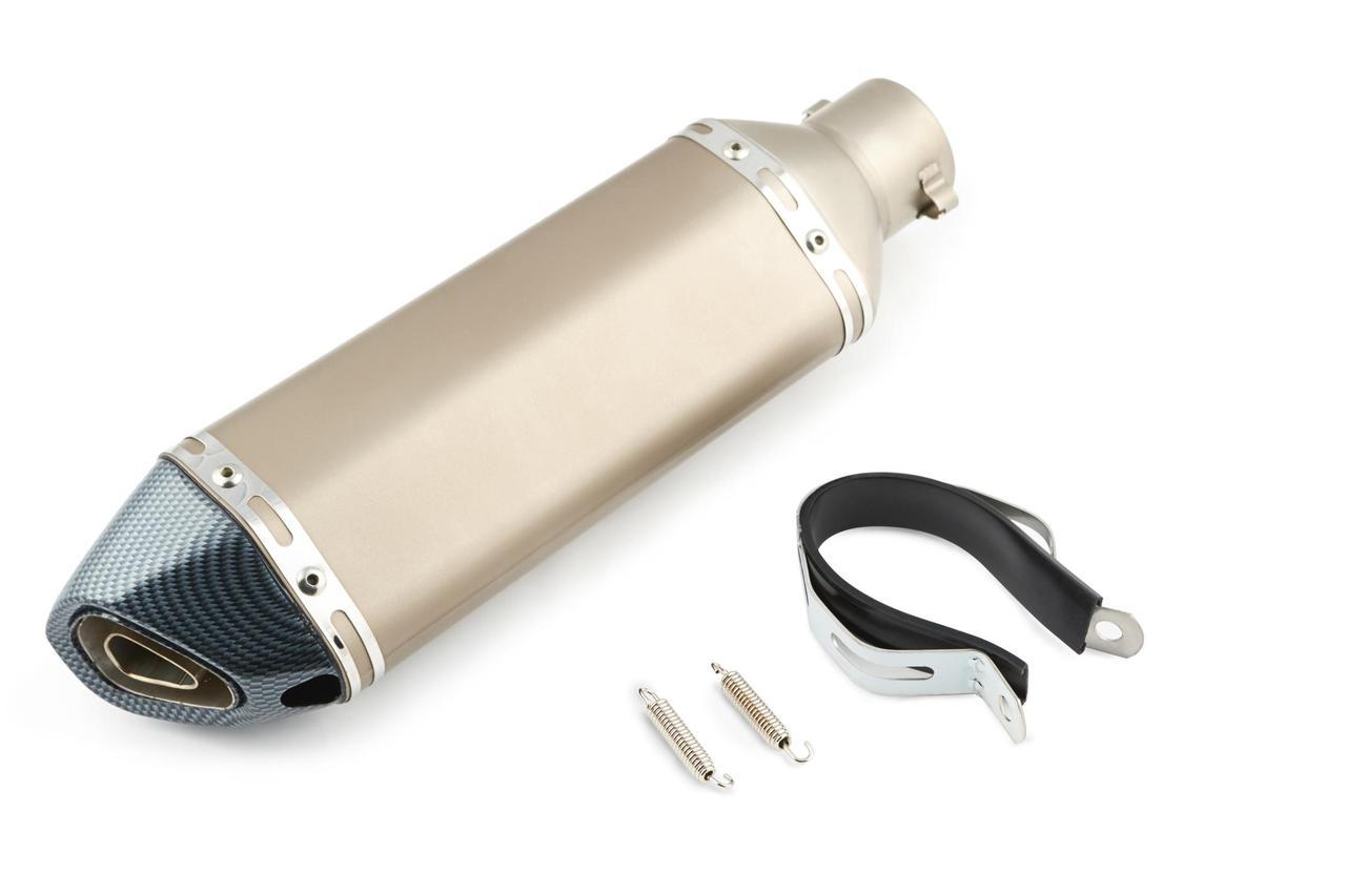 Глушитель (Выхлопная труба) (тюнинг) 370*105мм (нержавейка, три-овал, серебро, прямоток, mod:4) 118
