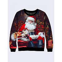Мужской свитшот Санта Клаус с подарками 26167 - Оригинал