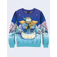 Мужской свитшот Зимний снеговик-ангел 26171 - Оригинал