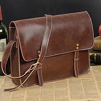 Мужская кожаная сумка-портфель. Модель с6, фото 2