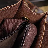 Мужская кожаная сумка-портфель. Модель с6, фото 4