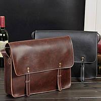 Мужская кожаная сумка-портфель. Модель с6, фото 5