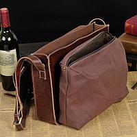 Мужская кожаная сумка-портфель. Модель с6, фото 6