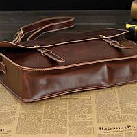 Мужская кожаная сумка-портфель. Модель с6, фото 7