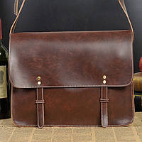 Мужская кожаная сумка-портфель. Модель с6, фото 8