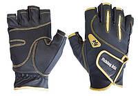 Перчатка спиннингиста Fishing ROI WK-04 black-gold XL (б/пальц.)