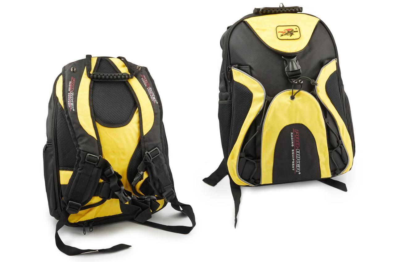 Моторюкзак, мотоциклетный рюкзак PRO-BIKER (черно-желтый)