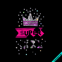 Декор на шторы Super Girl (ss6 кристалл, ss6 фуксия, ss10 кристалл)