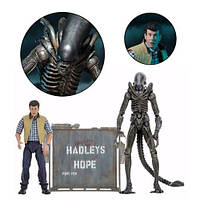 """Картер Берк против Чужого Ксеноморфа """"Надежда Хэдли"""" - Hadley's Hope, Aliens Action Figures, NECA"""