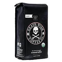 Death Wish Coffee USA в зернах / молотый, 450 г, темная обжарка, шоколадный вкус, самый крепкий кофе в мире!