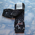 Носки женские махровые тёмно серые с оленями размер 36-41, фото 3