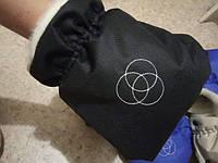 Муфта варежки теплые рукавицы для коляски черные, фото 1