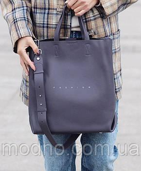 Жіноча шкіряна сумка шоппер Polina & Fashion Eiterou