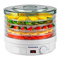 Сушилка для овощей и фруктов 245 Вт, 5 уровней, GRUNHELM BY1102 (46093)
