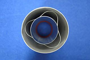 Коаксиальный удлинитель дымохода СЕ 0.25 м