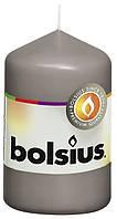 Свеча цилиндр серая bolsius 8 см (50/80-070Б)
