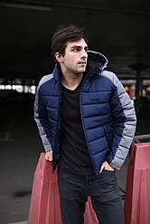 """Куртка мужская зимняя короткая стеганая Intruder """"Impression"""" серая синяя в размере S M L XL XXL"""