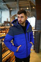 """Куртка мужская зимняя Intruder """"lightning"""" серо-синяя  в размере S M L XL XXL"""