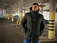 Мужская зимняя куртка Everest бренда Intruder хаки размер S M L XL XXL