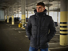 Мужская зимняя куртка Everest бренда Intruder темно серая размер S M L XLXXL