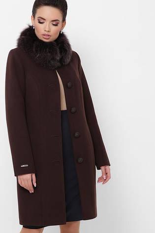 Пальто женское зимнее с мехом размеры: 42, фото 2