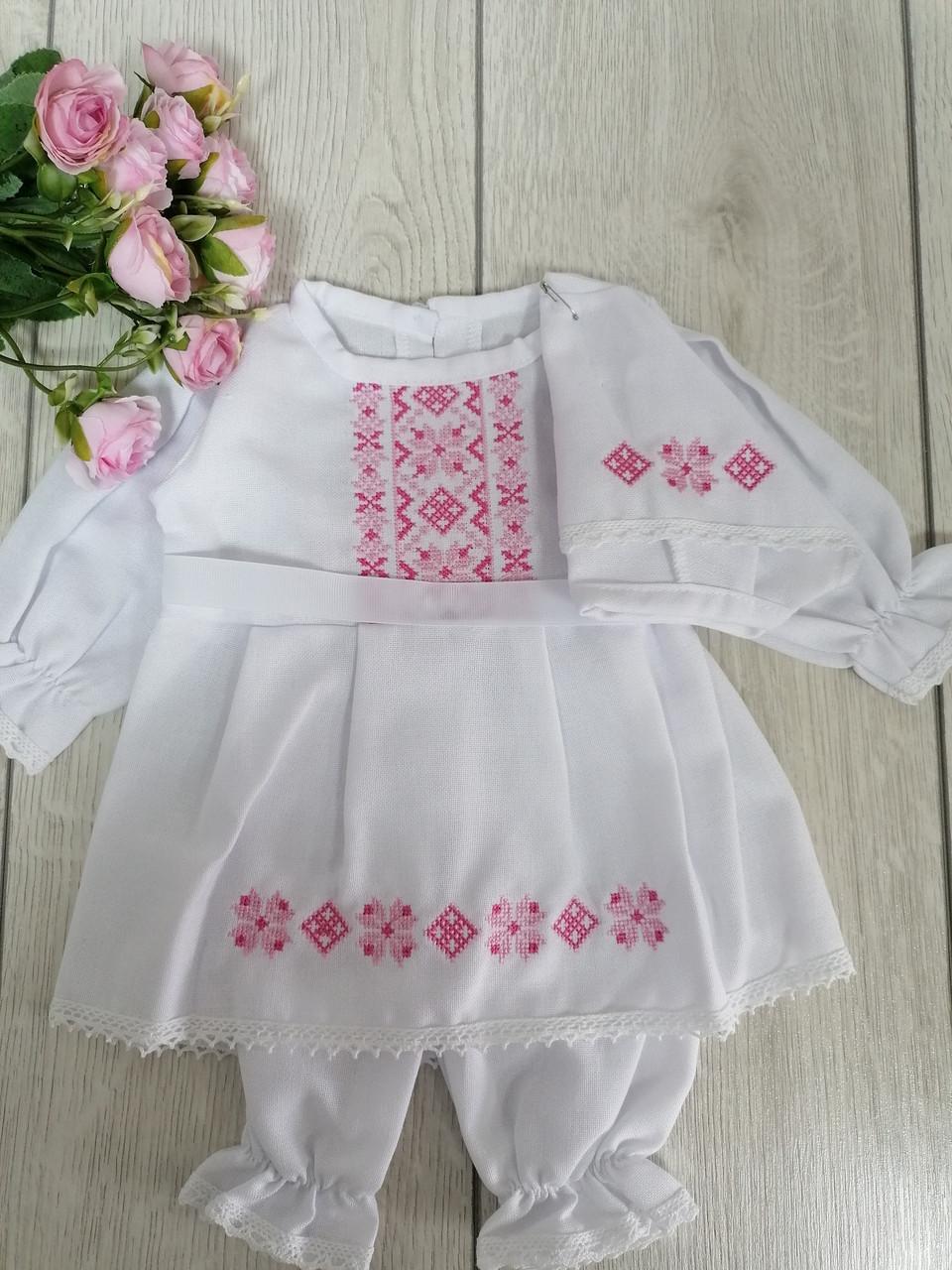Набор для крещения для девочки Волинські візерунки вышитый крестиком