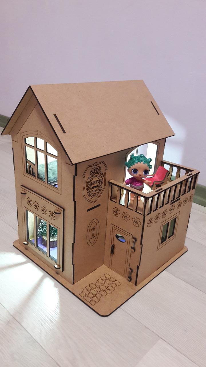 Кукольный домик для куклы Лол ночник светильник. В ПОДАРОК мебель!!!