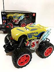 Машина аккумуляторная внедорожник на радиоуправлении 2057 Тачки Kronos Toys 23 см Желтый
