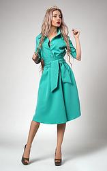 """Платье  """"Ребека"""" в мятном цвете размеры 44,46,48"""