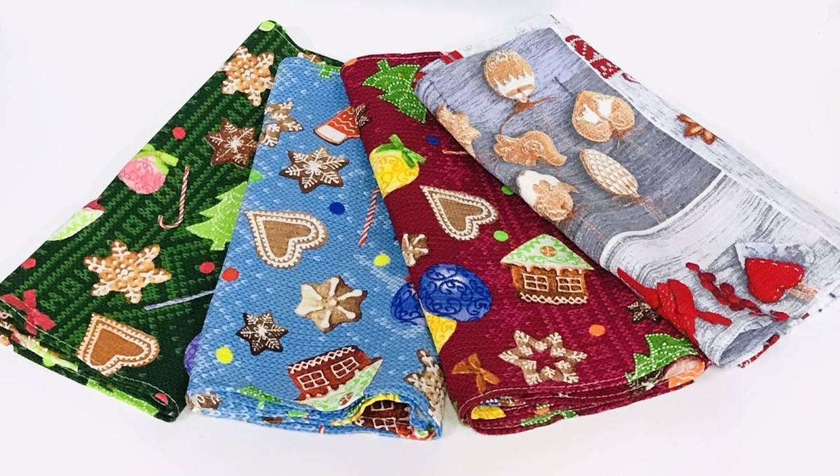 Вафельные полотенца Новогодние (20308)