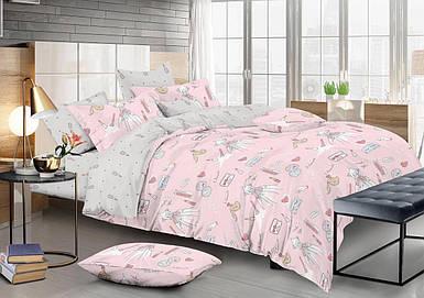 Полуторный комплект постельного белья 150*220 сатин (13324) TM КРИСПОЛ Украина