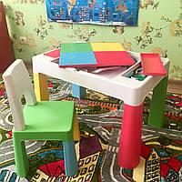 Детский разноцветный столик для Лего, творчества и других занятий, Польша