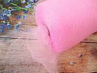 Фатин-сетка, ширина 15 см, цвет РОЗОВЫЙ