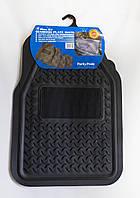 Комплект универсальных резиновых черных ковриков в салон автомобиля