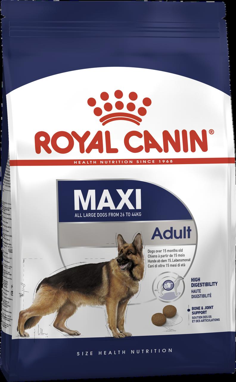 Сухой корм для собак крупных пород Роял Канин Royal Canin maxi adult, 4 кг