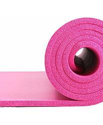 Коврик для тренировок LiveUp NBR MAT, розовый