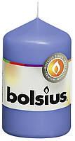 Свеча цилиндр васильковая bolsius 8 см (50/80-051Б)