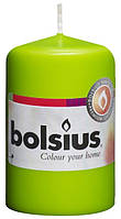 Свеча цилиндр салатовая bolsius 8 см (50/80-064Б)
