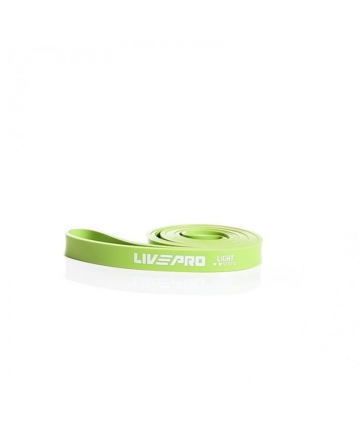 Еспандер для тренувань LivePro SUPER BAND Light, зелений