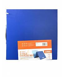Коврик для тренировки складной LiveUp 3-FOLD EXERCISE MAT, синий/голубой