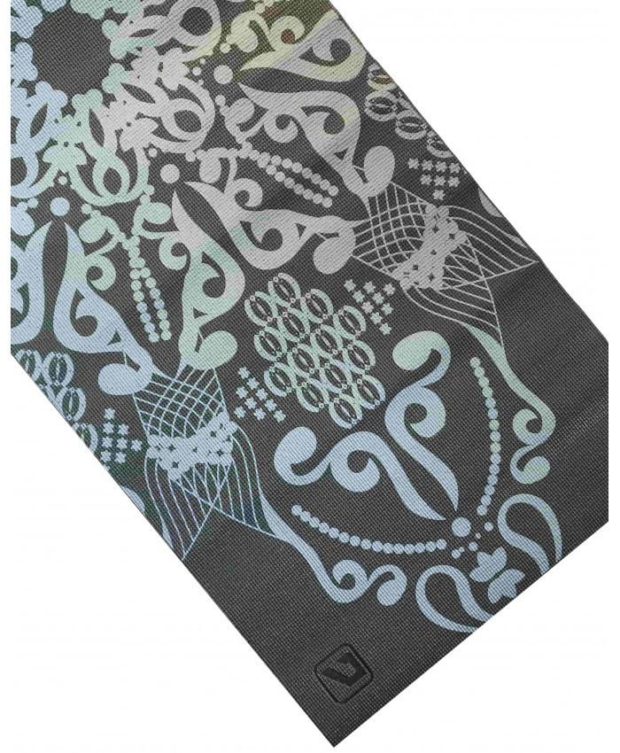 Йога-коврик LiveUp PVC PRINTED YOGA MAT, серый