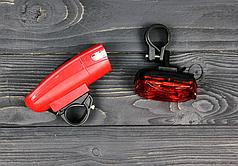 Велосипедный фонарь велофара со стопом Kaikuo KK-860 с креплением Red