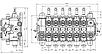 Гидрораспределитель 6 секционный Akon KV176 (5006638000), фото 2
