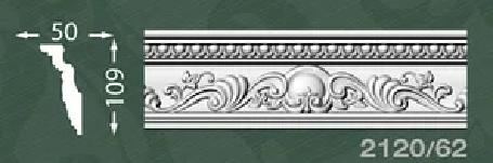 Плинтус потолочный с орнаментом из пенопласта Baraka Dekor 2120/62