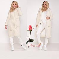 Женское пальто из искусственного меха