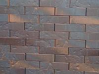 Кирпич клинкерный Керамейя КлинКерам 250x120x65мм Рустика Графит 6 Пр1 36% без торкрета(без посыпки), фото 1
