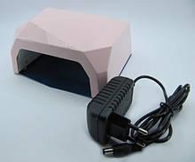 SUN Diamond гибридная светодиодная лампа UV/LED 36 W для ГЕЛЯ и ГЕЛЬ-ЛАКА многогранник , сенсор розовая.