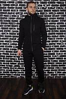 Спортивный костюм Spirited Hot черный - утепленный флисом + Подарок