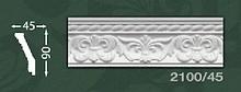 Плінтус стельовий з орнаментом з пінопласту Baraka Dekor 2100/45