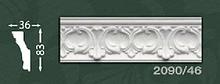 Плінтус стельовий з орнаментом з пінопласту Baraka Dekor 2090/46